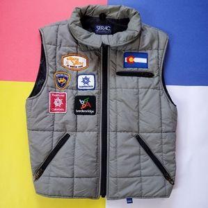 Vintage Unique Serac Patches Puffer Vest